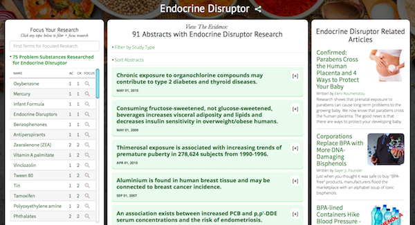 Endocrine Disruptor Research Dashboard